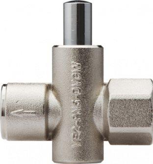 Клапан запорный кнопочный VE2-2-G1/2 для установки манометра фото