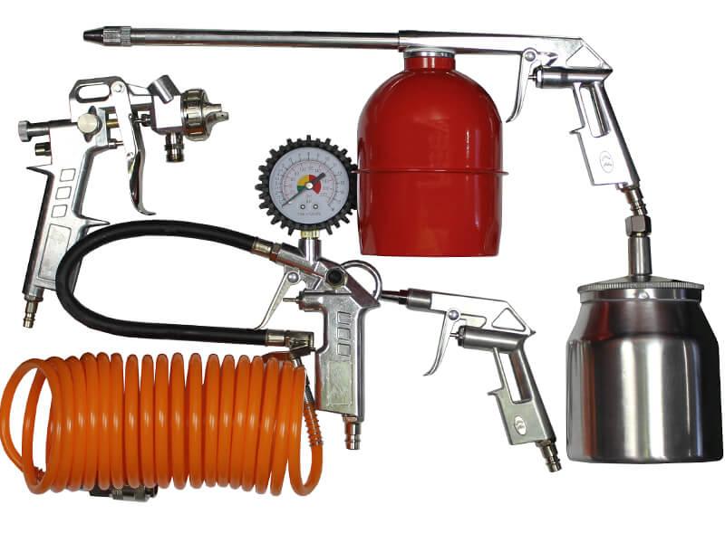 Пневматический краскопульт с компрессором